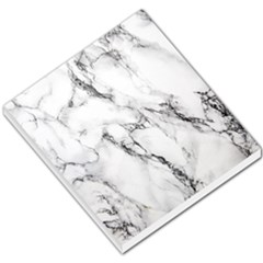 White Marble Stone Print Small Memo Pads by Dushan