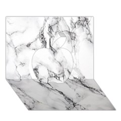 White Marble Stone Print Apple 3d Greeting Card (7x5)