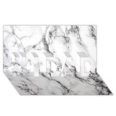 White Marble Stone Print #1 Dad 3d Greeting Card (8x4)