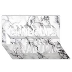 White Marble Stone Print Congrats Graduate 3d Greeting Card (8x4)