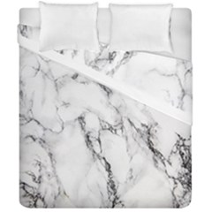 White Marble Stone Print Duvet Cover (double Size) by Dushan