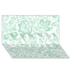 Mint Green And White Baroque Floral Pattern Sorry 3d Greeting Card (8x4)