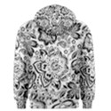 Black Floral Damasks Pattern Baroque Style Men s Pullover Hoodies View2