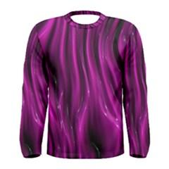 Shiny Silk Pink Men s Long Sleeve T-shirts