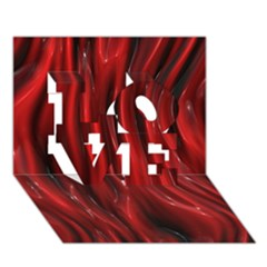 Shiny Silk Red Love 3d Greeting Card (7x5)
