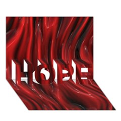 Shiny Silk Red Hope 3d Greeting Card (7x5)  by MoreColorsinLife