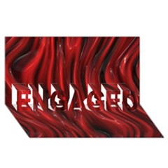 Shiny Silk Red Engaged 3d Greeting Card (8x4)