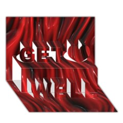 Shiny Silk Red Get Well 3d Greeting Card (7x5)