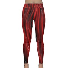 Shiny Silk Red Yoga Leggings by MoreColorsinLife