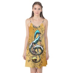 Music, Clef With Fairy And Floral Elements Camis Nightgown by FantasyWorld7