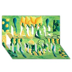Lemons And Limes Laugh Live Love 3D Greeting Card (8x4)