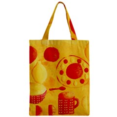 Lemons And Oranges With Bowls  Zipper Classic Tote Bags