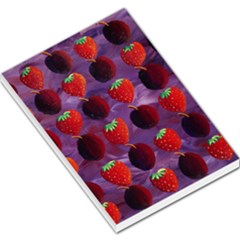 Strawberries And Plums  Large Memo Pads