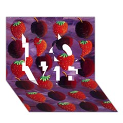 Strawberries And Plums  Love 3d Greeting Card (7x5)  by julienicholls