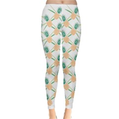 Pineapple Pattern 04 Winter Leggings by Famous