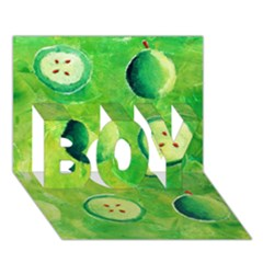 Apples In Halves  BOY 3D Greeting Card (7x5)