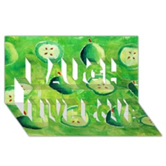 Apples In Halves  Laugh Live Love 3d Greeting Card (8x4)