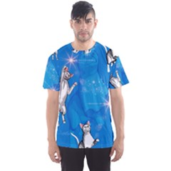Funny, Cute Playing Cats With Stras Men s Sport Mesh Tees by FantasyWorld7