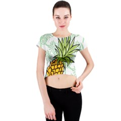 Pineapple Pattern 05 Crew Neck Crop Top by Famous
