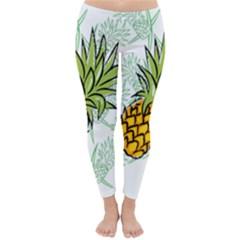 Pineapple Pattern 05 Winter Leggings by Famous