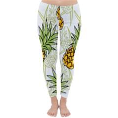 Pineapple Pattern 06 Winter Leggings by Famous