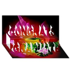 Awesome F?owers With Glowing Lines Congrats Graduate 3d Greeting Card (8x4)  by FantasyWorld7