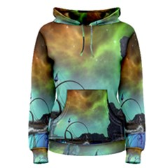Fantasy Landscape With Lamp Boat And Awesome Sky Women s Pullover Hoodies