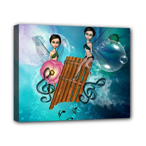 Music, Pan Flute With Fairy Canvas 10  X 8  by FantasyWorld7
