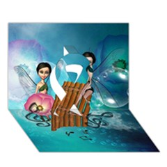 Music, Pan Flute With Fairy Ribbon 3d Greeting Card (7x5)