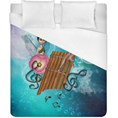 Music, Pan Flute With Fairy Duvet Cover Single Side (double Size) by FantasyWorld7