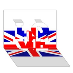 Brit1 Love 3d Greeting Card (7x5)