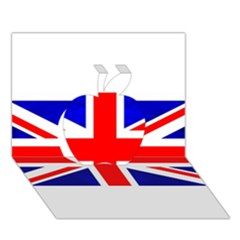 Brit1 Apple 3d Greeting Card (7x5)