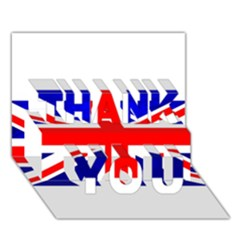 Brit1 Thank You 3d Greeting Card (7x5)