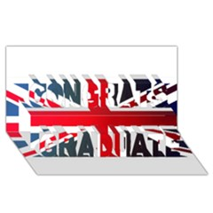 Brit2 Congrats Graduate 3d Greeting Card (8x4)