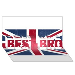 Brit3 Best Bro 3d Greeting Card (8x4)