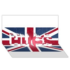 Brit3 Hugs 3d Greeting Card (8x4)