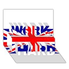 Brit5 Work Hard 3d Greeting Card (7x5)