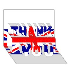Brit5 Thank You 3d Greeting Card (7x5)