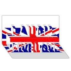 Brit5 Laugh Live Love 3d Greeting Card (8x4)