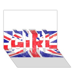 Brit6 Girl 3d Greeting Card (7x5)