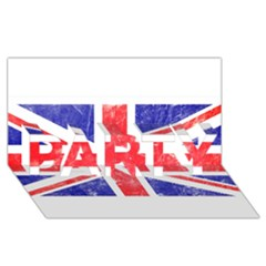 Brit6 Party 3d Greeting Card (8x4)