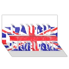 Brit6 Laugh Live Love 3d Greeting Card (8x4)