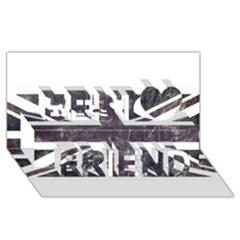 Brit7 Best Friends 3d Greeting Card (8x4)