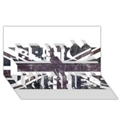 Brit7 Best Wish 3d Greeting Card (8x4)