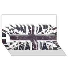 Brit7 Congrats Graduate 3d Greeting Card (8x4)