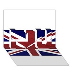 Brit8 I Love You 3d Greeting Card (7x5)