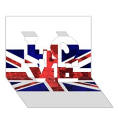 Brit9 Love 3d Greeting Card (7x5)
