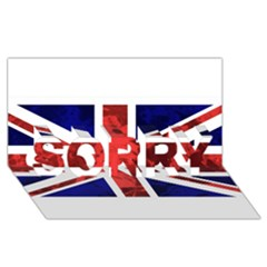 Brit9 Sorry 3d Greeting Card (8x4)