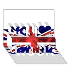 Brit9 You Rock 3d Greeting Card (7x5)