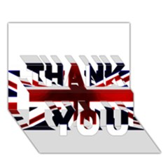 Brit10 Thank You 3d Greeting Card (7x5)